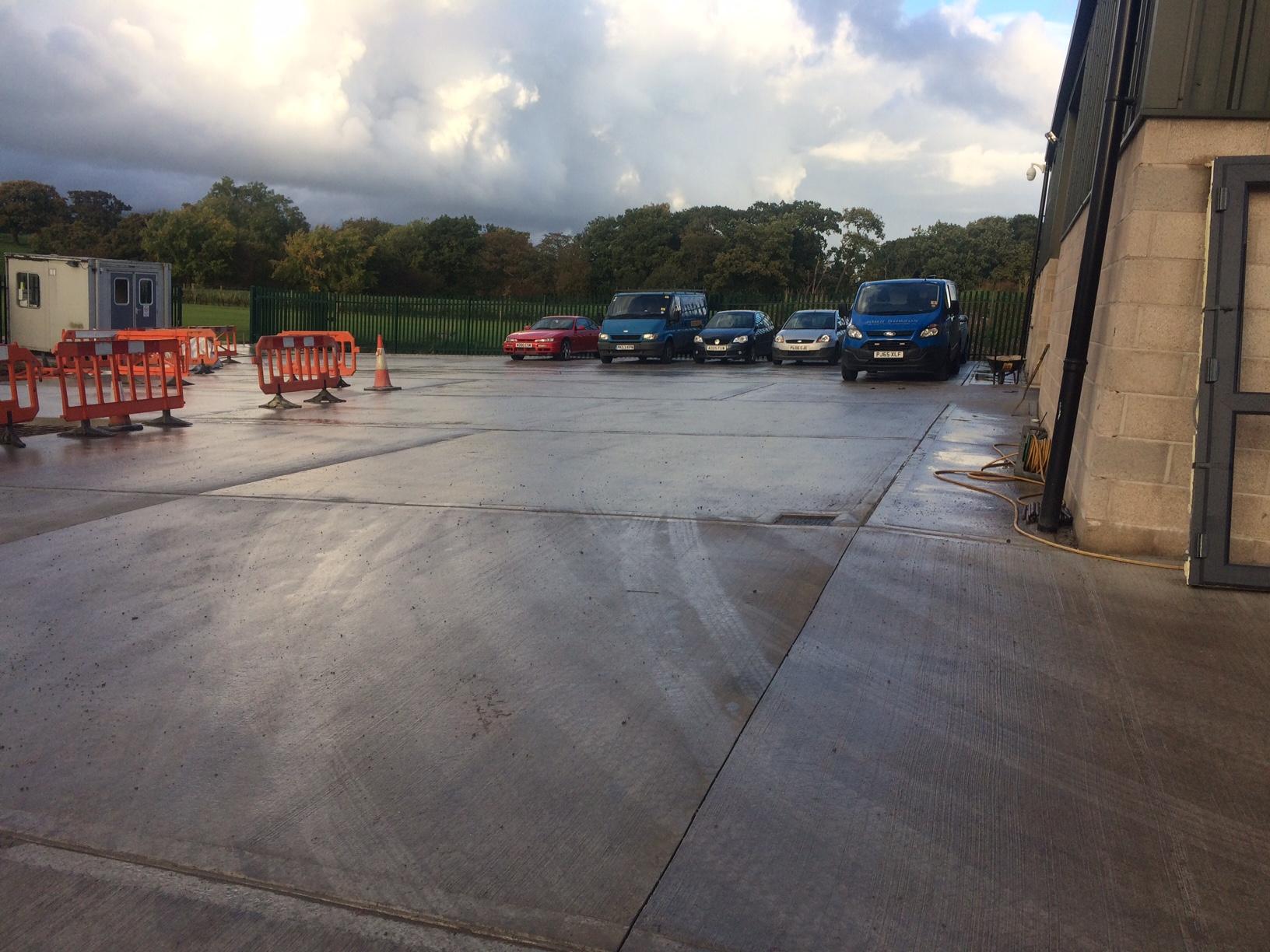New concrete yard