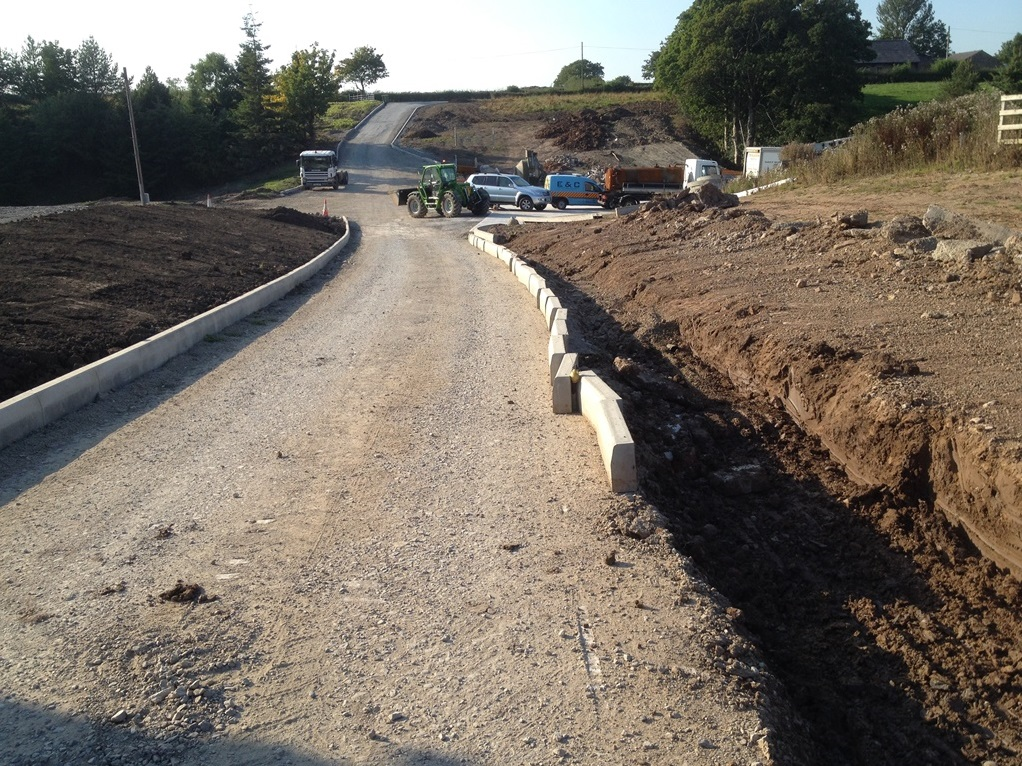 Private road construction