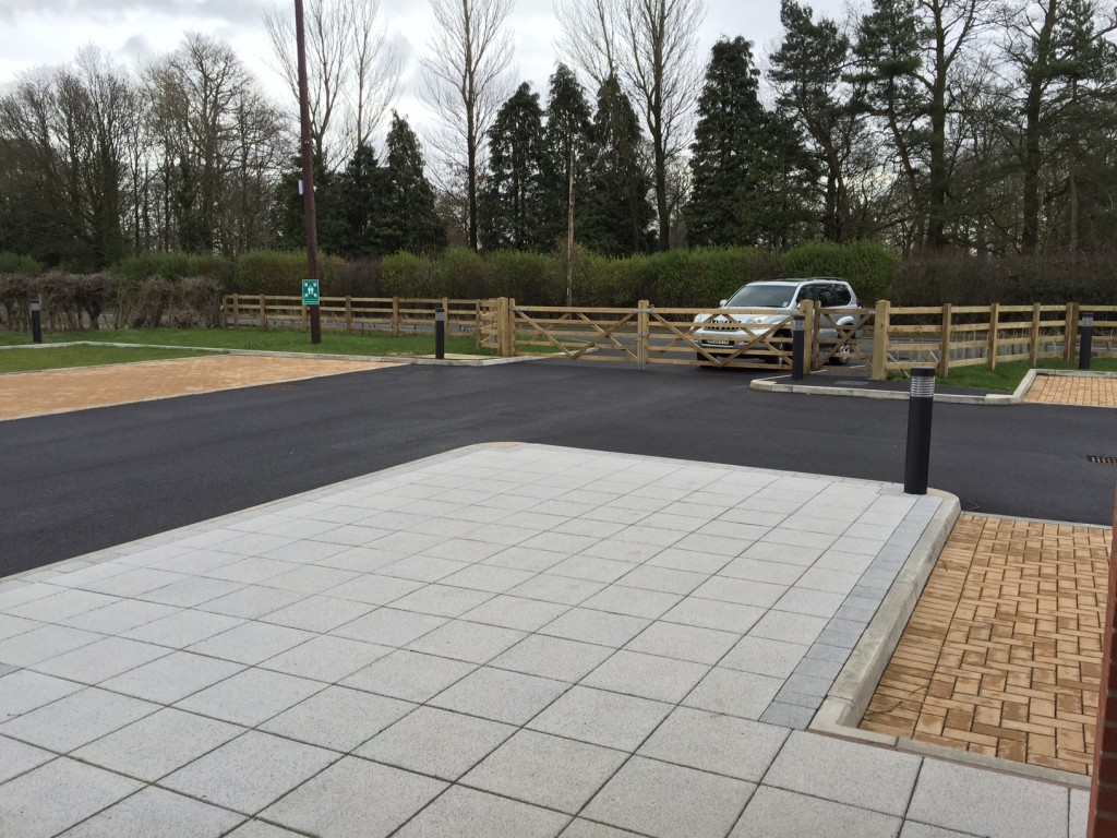 Paving and car park works