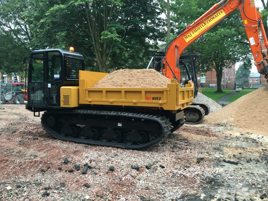 Hire tracked dumpers