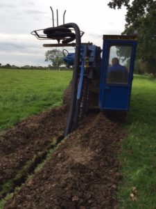 trenching for ground source heat pumps
