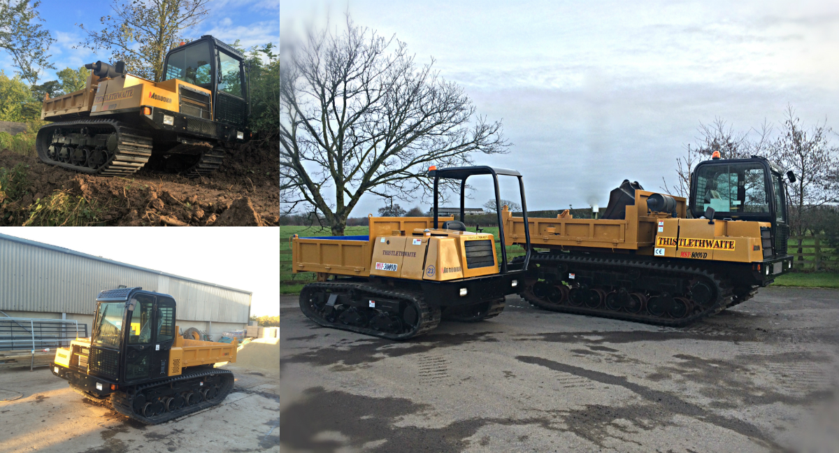 Tracked dumper hire collage