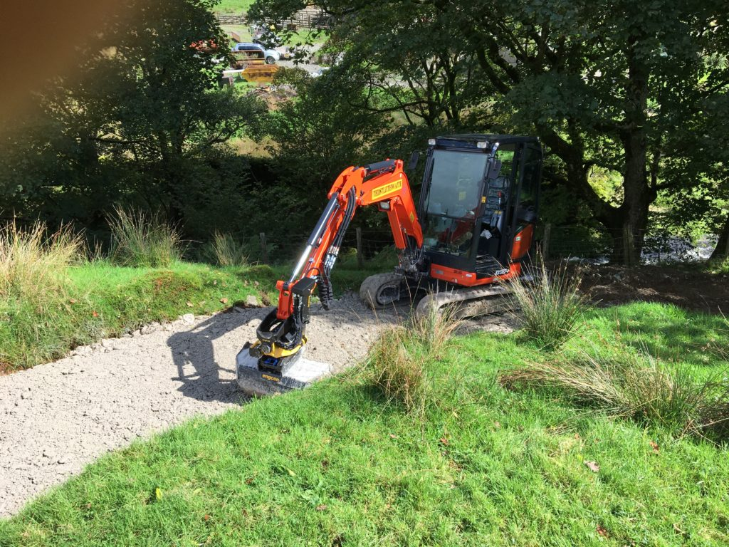 Digger on path